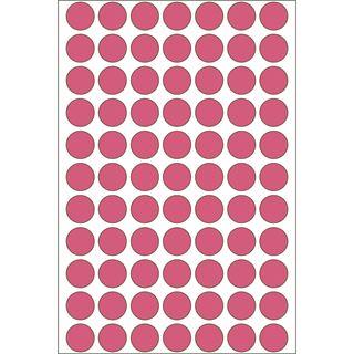 Herma 2236 leuchtrot Vielzwecketiketten 1.3x1.3 cm (24 Blatt (1848 Einheiten))