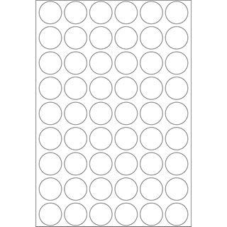 Herma 2240 rund Vielzwecketiketten 1.6x1.6 cm (32 Blatt (1728 Etiketten))