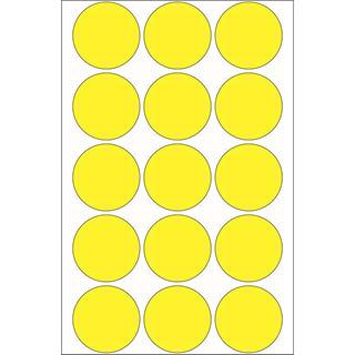Herma 2271 gelb rund Vielzwecketiketten 3.2x3.2 cm (32 Blatt (480 Etiketten))