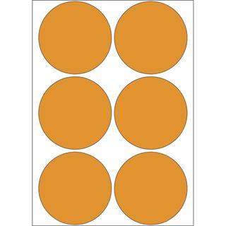 Herma 2284 leuchtorange Vielzwecketiketten 5x5 cm (24 Blatt (144 Etiketten))