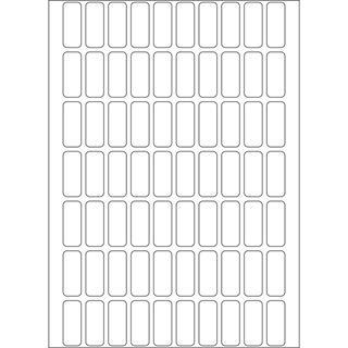 Herma 2320 Vielzwecketiketten 0.8x2.0 cm (32 Blatt (2240 Etiketten))
