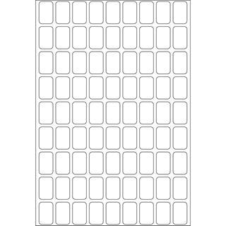 Herma 2330 Vielzwecketiketten 1x1.6 cm (32 Blatt (2592 Etiketten))