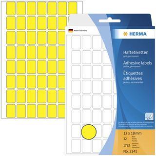 Herma 2341 gelb Vielzwecketiketten 1.2x1.8 cm (32 Blatt (1792 Etiketten))