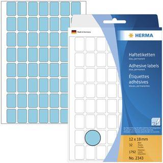 Herma 2343 blau Vielzwecketiketten 1.2x1.8 cm (32 Blatt (1792 Etiketten))