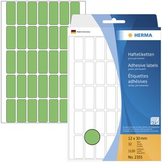 Herma 2355 gruen Vielzwecketiketten 1.2x3 cm (32 Blatt (1120 Etiketten))