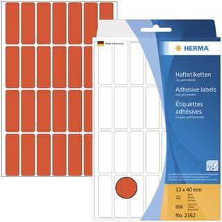 Herma 2362 rot Vielzwecketiketten 1.3x4 cm (32 Blatt (896 Etiketten))