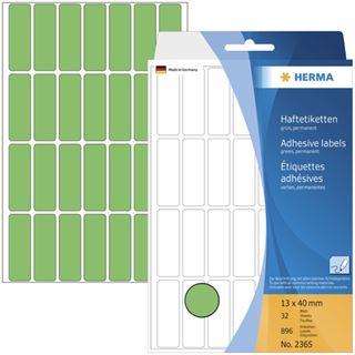 Herma 2365 gruen Vielzwecketiketten 1.3x4 cm (32 Blatt (896 Etiketten))