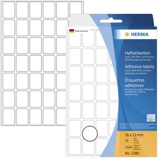 Herma 2380 Vielzwecketiketten 1.6x2.2 cm (32 Blatt (1344 Etiketten))