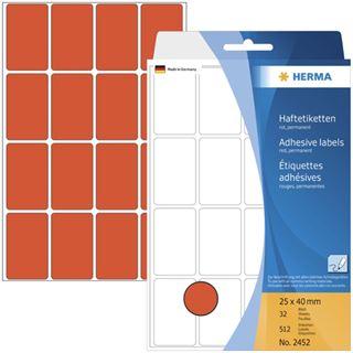 Herma 2452 Vielzwecketiketten 2.5x4 cm (32 Blatt (512 Etiketten))