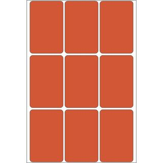 Herma 2472 rot Vielzwecketiketten 3.4x5.3 cm (32 Blatt (288 Etiketten))