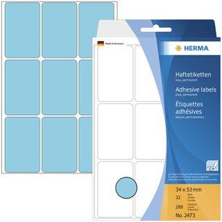 Herma 2473 blau Vielzwecketiketten 3.4x5.3 cm (32 Blatt (288 Etiketten))