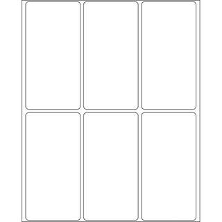 Herma 2480 Vielzwecketiketten 3.4x6.7 cm (32 Blatt (192 Etiketten))