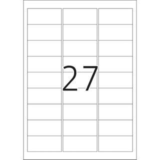 Herma 4098 silber Universal-Etiketten 6.35x2.96 cm (25 Blatt (675 Etiketten))