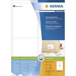 Herma 4250 Premium Adressetiketten 9.6x5.08 cm (100 Blatt (1000 Etiketten))