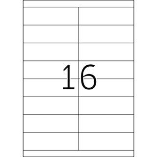 Herma 4264 Premium Universal-Etiketten 10.2x3.8 cm (100 Blatt (1600 Etiketten))