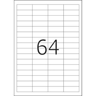 Herma 4271 Premium Universal-Etiketten 4.83x1.69 cm (100 Blatt (6400 Etiketten))