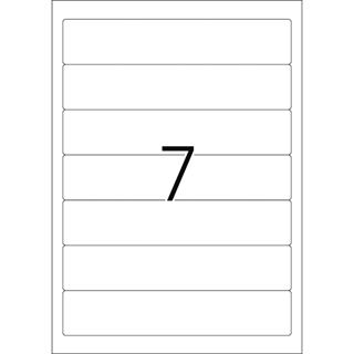 Herma 4283 blickdicht Ordneretiketten 19.8x3.8 cm (100 Blatt (700 Etiketten))