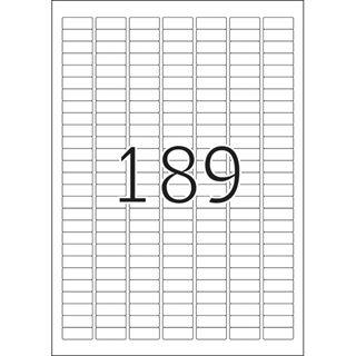 Herma 4333 Premium Universal-Etiketten 2.54x1 cm (25 Blatt (4725 Etiketten))