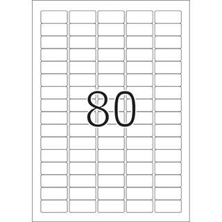 Herma 4336 Premium Universal-Etiketten 3.56x1.69 cm (25 Blatt (2000 Etiketten))