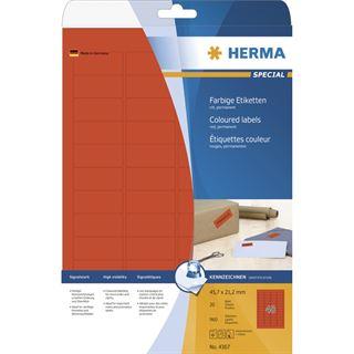 Herma 4367 Universal-Etiketten 4.57x2.12 cm (24 Blatt (960 Etiketten))