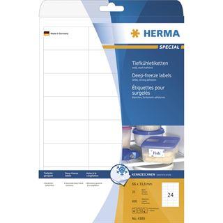 Herma 4389 Tiefkühletiketten 6.6x3.38 cm (25 Blatt (600 Etiketten))