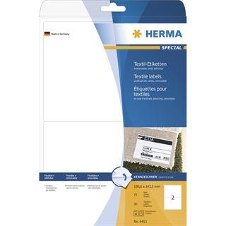 Herma 4413 ablösbar Textiletiketten 19.96x14.35 cm (25 Blatt (50 Etiketten))