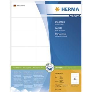 Herma 4415 Premium Universal-Etiketten 7x4.2 cm (500 Blatt (10500 Etiketten))