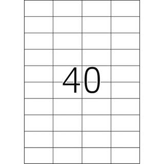 Herma 4461 Premium Universal-Etiketten 5.25x2.97 cm (100 Blatt (4000 Etiketten))