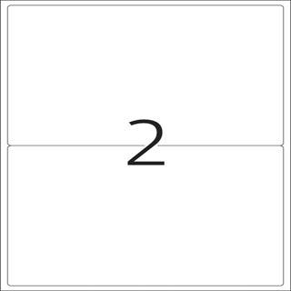 Herma 4497 rot Universal-Etiketten 19.96x14.35 cm (20 Blatt (40 Etiketten))