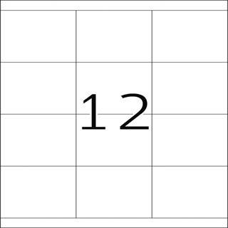 Herma 4617 Premium Universal-Etiketten 7x6.77 cm (200 Blatt (2400 Etiketten))