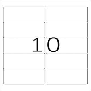 Herma 4667 Premium Adressetiketten 9.6x5.08 cm (100 Blatt (1000 Etiketten))