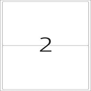 Herma 4915 Universal-Etiketten 19.96x14.35 cm (25 Blatt (50 Etiketten))
