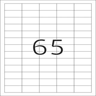 Herma 5027 Premium Universal-Etiketten 3.81x2.12 cm (25 Blatt (1625 Etiketten))