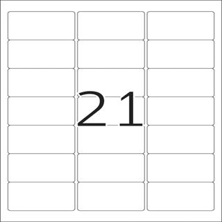 Herma 5029 Adressetiketten 6.35x3.81 cm (25 Blatt (525 Etiketten))