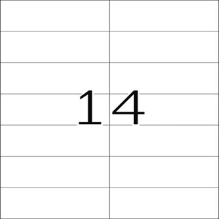 Herma 5058 gelb Universal-Etiketten 10.5x4.23 cm (20 Blatt (280 Etiketten))
