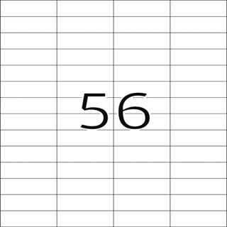 Herma 5080 ablösbar Universal-Etiketten 5.25x2.12 cm (25 Blatt (1400 Etiketten))