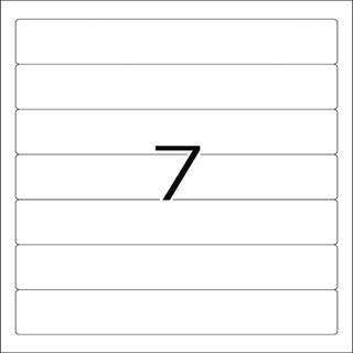 Herma 5090 blickdicht Ordneretiketten 19.2x3.8 cm (25 Blatt (175 Etiketten))