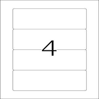 Herma 5121 Ordneretiketten 15.7x6.1 cm (25 Blatt (100 Etiketten))