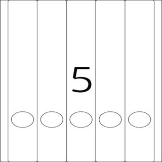 Herma 5130 blickdicht Ordneretiketten 3.8x29.7 cm (25 Blatt (125 Etiketten))