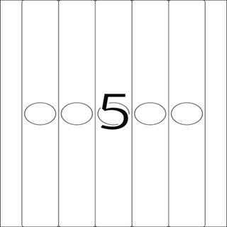 Herma 5165 blickdicht schmal Hängeordneretiketten 3.4x29.7 cm (25 Blatt (125 Etiketten))