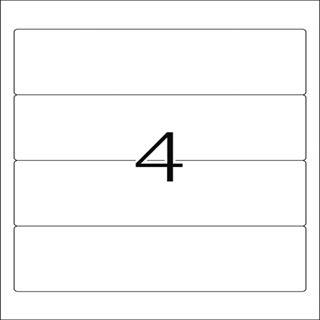 Herma 8621 blickdicht Ordneretiketten 19.2x6.1 cm (10 Blatt (40 Etiketten))