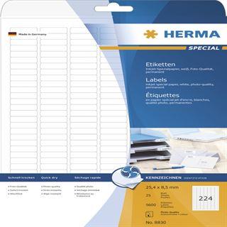 Herma 8830 Inkjet-Etiketten 2.54x0.85 cm (25 Blatt (5600 Etiketten))