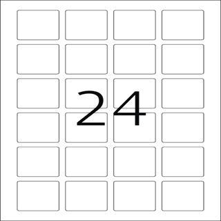 Herma 10108 quadratisch ablösbar Universal-Etiketten 4x4 cm (25 Blatt (600 Etiketten))