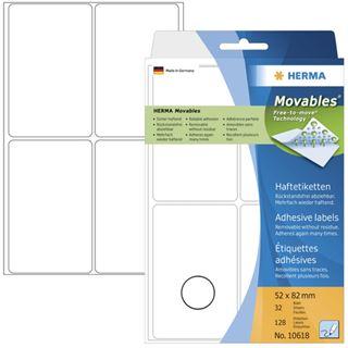 Herma 10618 ablösbar Vielzwecketiketten 5.2x8.2 cm (32 Blatt (128 Etiketten))