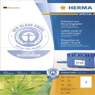 Herma 10832 Universal-Etiketten 21x14.8 cm (100 Blatt (100 Etiketten))