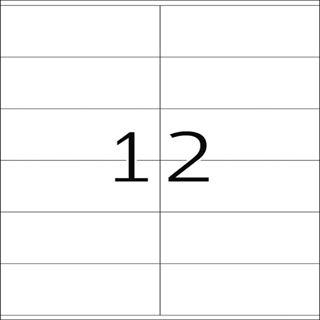 Herma 10908 extrem stark haftend Universal-Etiketten 10.5x4.8 cm (25 Blatt (300 Etiketten))