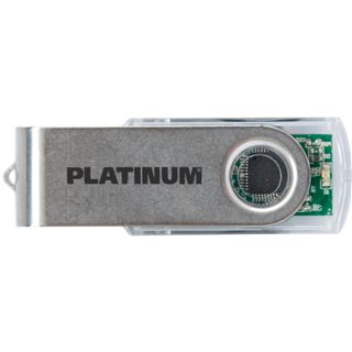 2 GB Platinum Twister transparent USB 2.0