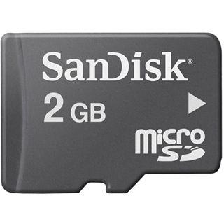 2 GB SanDisk microSD Class 4 Bulk inkl. Adapter