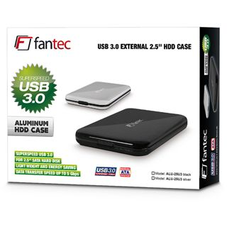 "Fantec ALU-25U3 2.5"" (6,35cm) USB 3.0 silber"