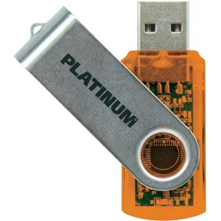 8 GB Platinum Twister orange USB 2.0